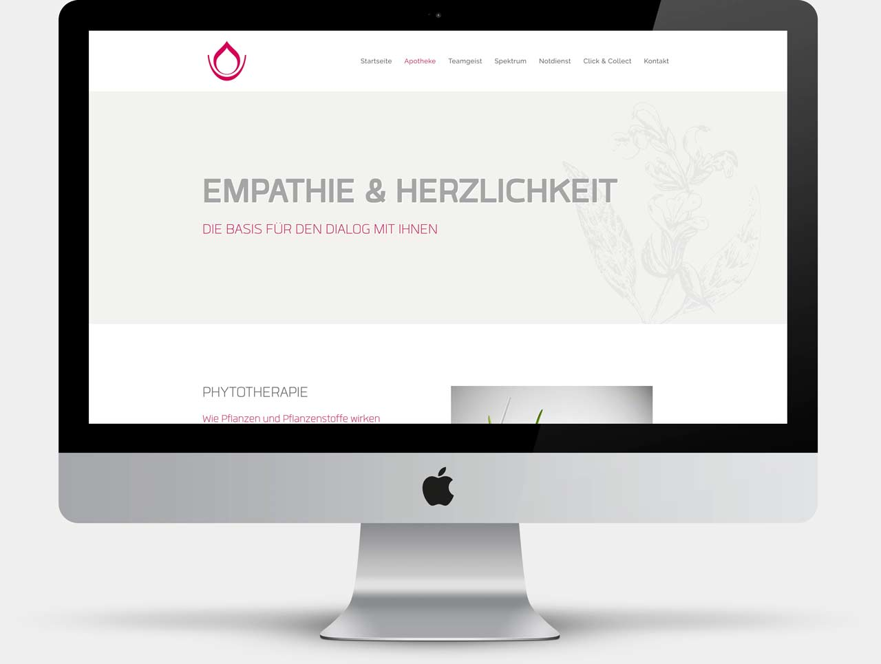 Webdesign Unterseite Apotheke St. Gallus