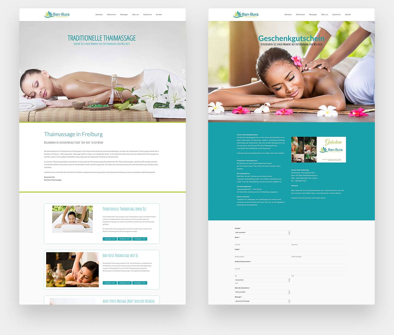 Webdesign Thaimassage Freiburg Banbura