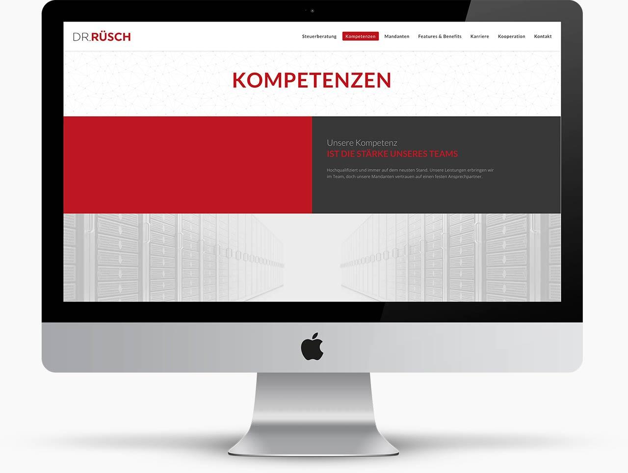 Webdesign Freiburger Steuerberater Dr. Rüsch