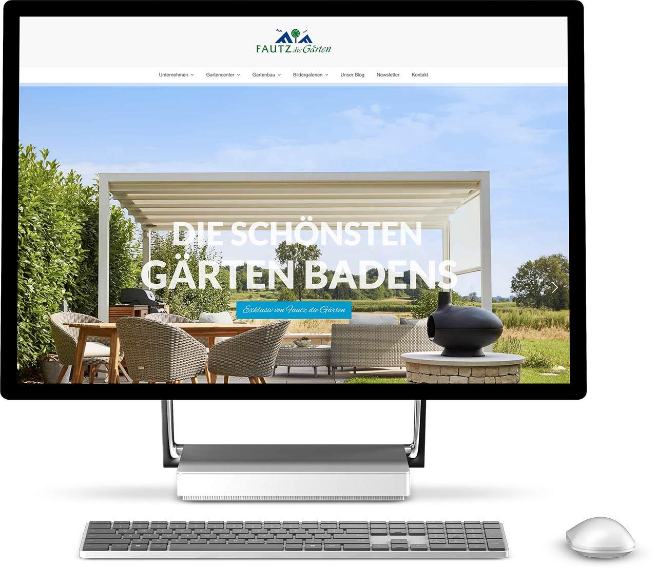 Webdesign Fautz die Gärten