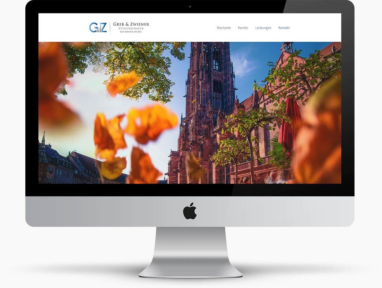 Webdesign Freiburger Steuerberater Greb & Zwiener