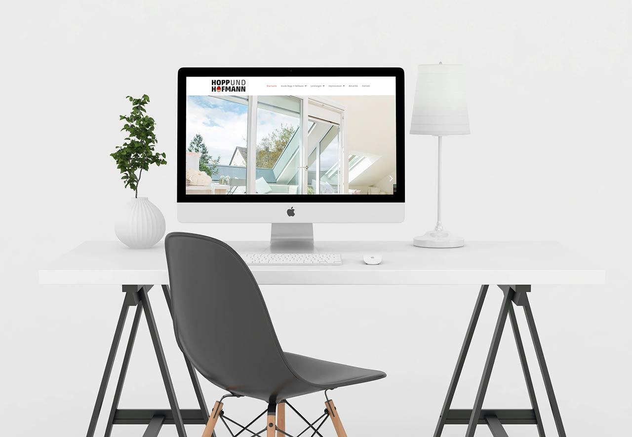 Webdesign Freiburger Bauunternehmen Hopp & Hofmann