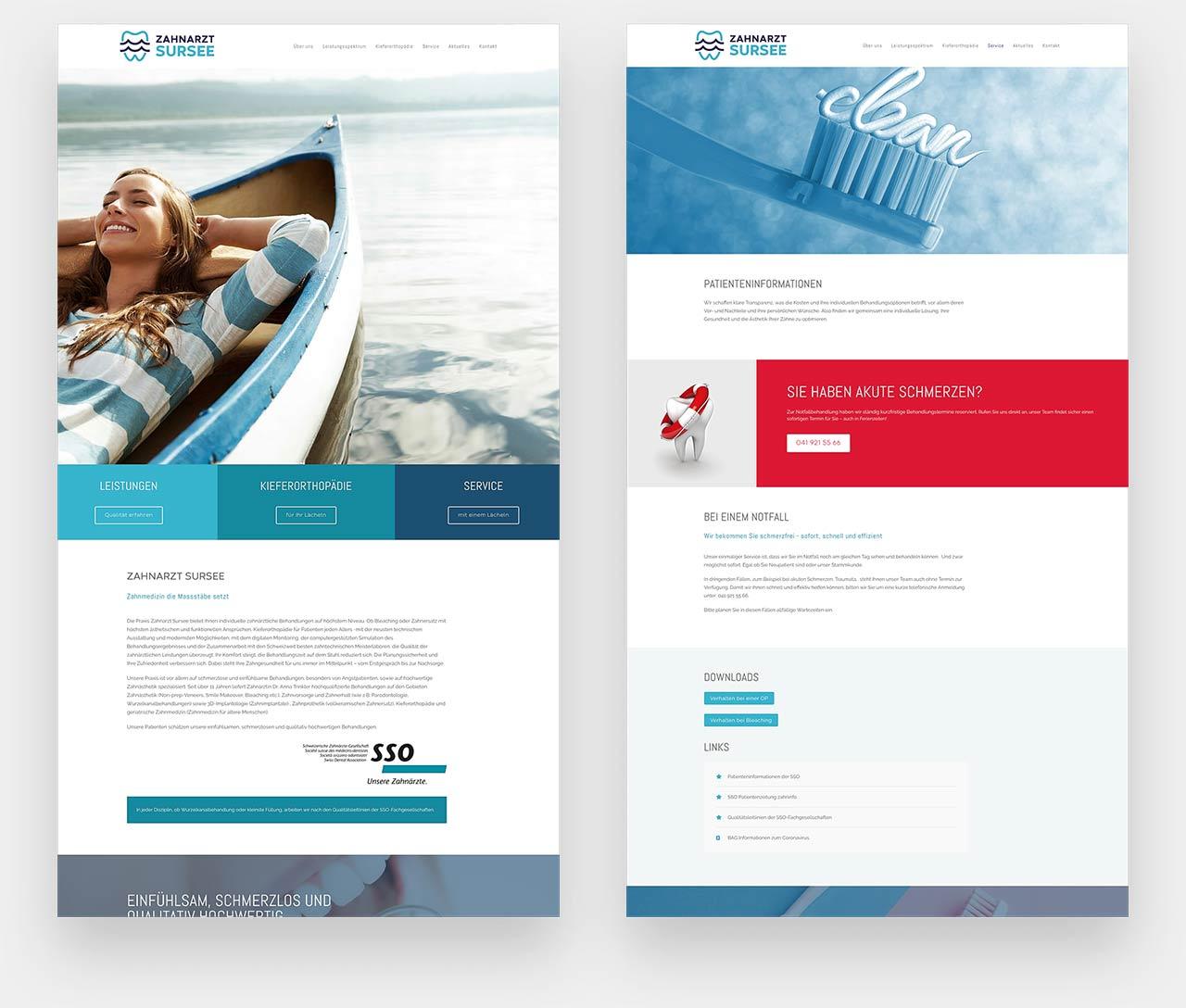 Webdesign Zahnklinik Sursee